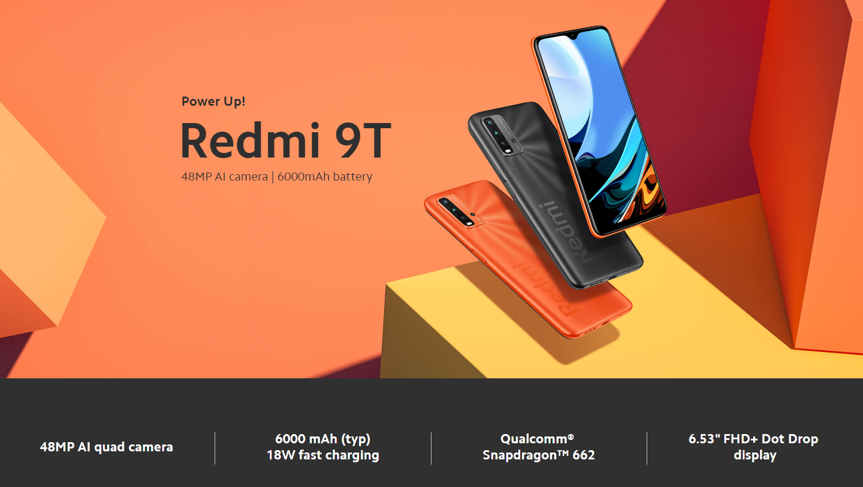 Xiaomi Redmi 9T Smartphone 6GB + 128GB-Versión UE