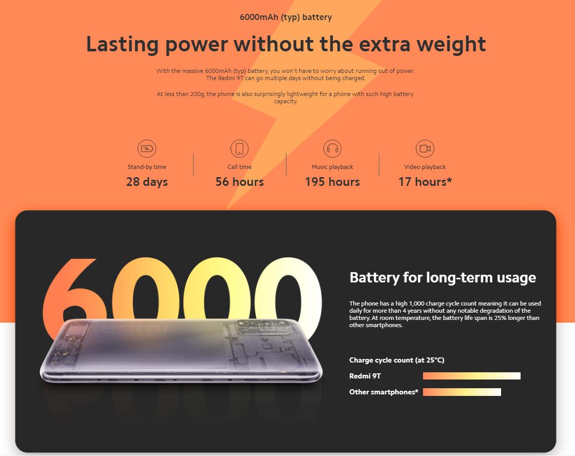 Xiaomi Redmi 9T Smartphone 4GB+64GB-EU Version