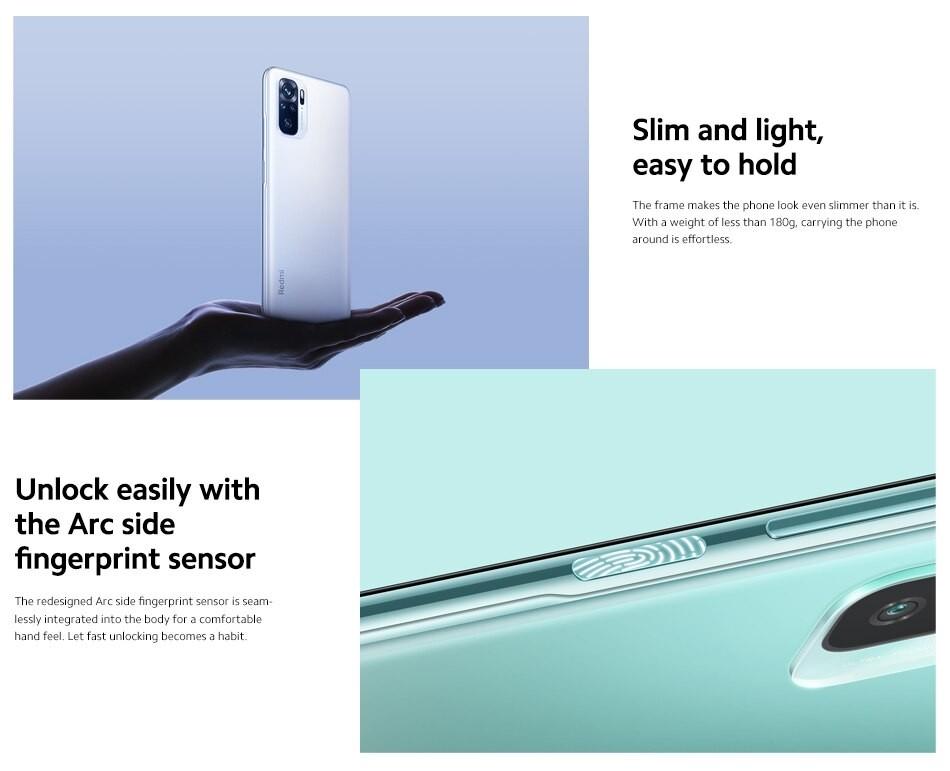 Redmi Note 10 Smartphone 4+128GB 5000mAh - wersja UE
