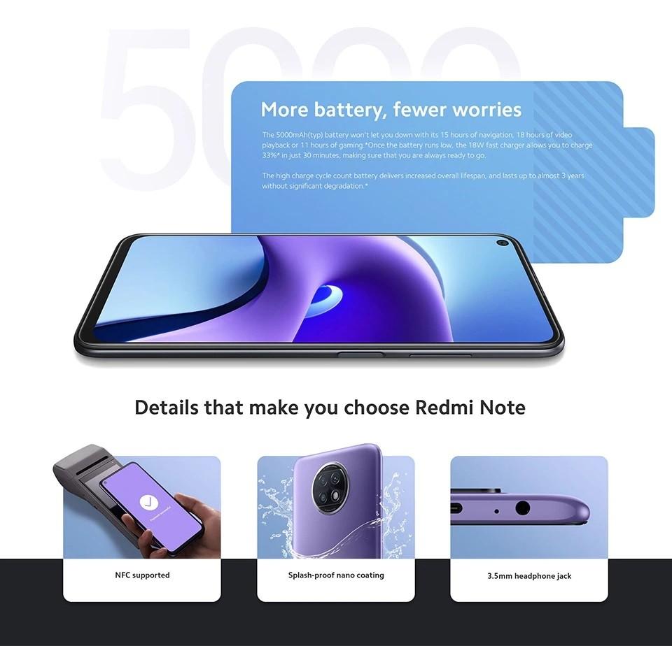 Xiaomi Redmi Note 9T 4+128GB - EU Version