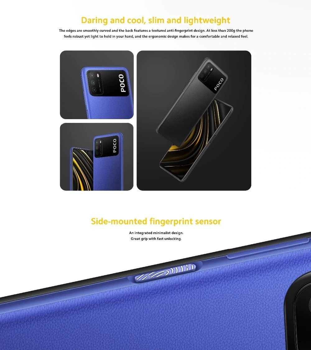 Smartphone Xiaomi POCO M3 4 Go + 128 Go-Version Globale