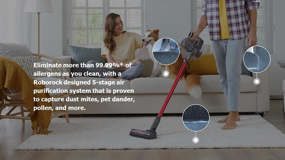 Roborock H7 Handheld Cordless Vacuum Cleaner -EU Version 160AW Constant Suction 90 minutes Run-time 99.99% Particle filtration support Dust Bag with Magnetic Accessories