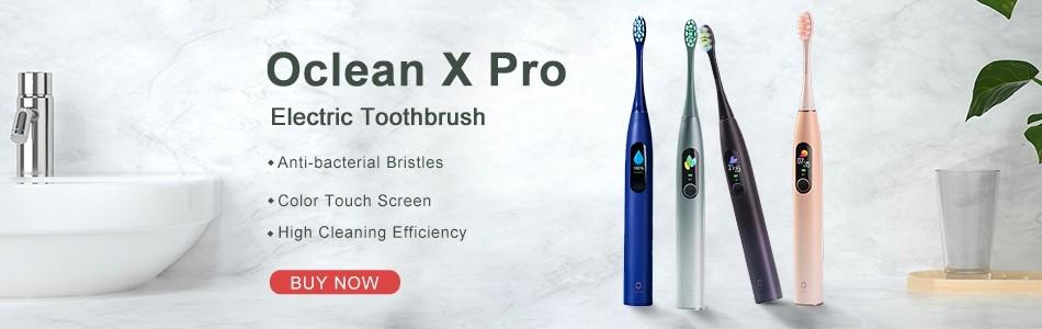 Oclean X Pro Sonic Electric Dents Brosse à dents Adulte IPX7 2-en-1 Titulaire de chargeur Couleur Écran tactile à ultrasons automatique