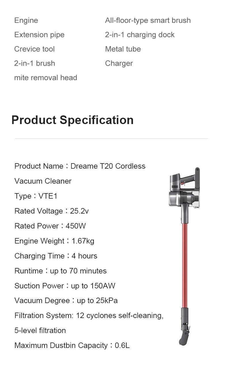 Dream T20 Pulitore vuoto vuoto - Versione globale